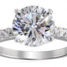 Sterling Silver Cubic Zirconia Ladies Solitaire Size 8