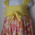 Maggie & Zoe yellow & orange floral print sundress size 5T