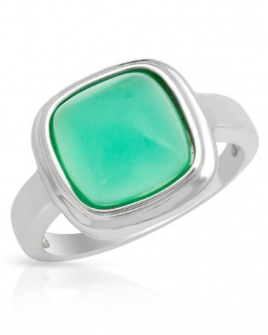 Ring With 3.65ctw Genuine Chalcedony Designed in Sterling Silver Size 7