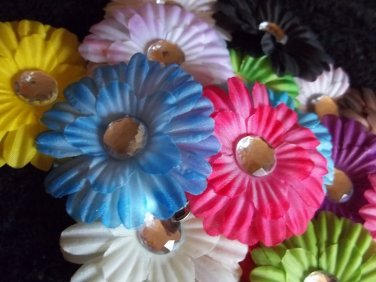 Handmade Flower & Crystal Hair Clips