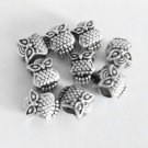 9 Pc. Silver Tibetan Spacer Charms