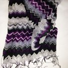 Chevron Pattern Scarf by Miley Cyrus & Max Azria