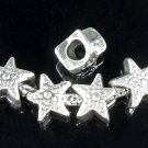5 Pc. Silver Star Spacer Charms