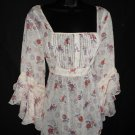 Paisley & floral - baby doll tunic top