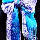 Lady's Cotton Floral Print Long Wrap/Shawl