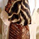 Brown Zebra & Leopard Print Scarf