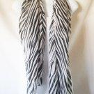 Silky Zebra Print Shawl/Scarf