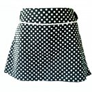 White Polka Dotted Black Mini Size M