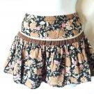 Drop waist girl's skirt in brown & pink earthy tones