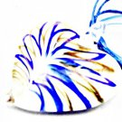 Blue murano glass heartshaped pendant & necklace