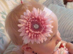 Sophia/Pink boutique flower headband