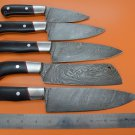 DKKS1 Full Tange Damascus Steel Kitchen Knife Set
