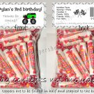 Personalized MONSTER TRUCK JAM Birthday Party Favors Goodie Bags & Toppers