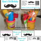 Personalized MUSTACHE MOUSTACHE Birthday Party Favors Bags Toppers Supplies