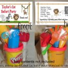 Personalized JUNGLE SAFARI 1st Birthday Favors Bags Toppers Supplies BABY SHOWER