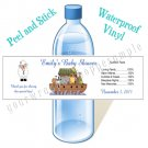 Personalized NOAH'S ARK BABY SHOWER Water Bottle Labels WATERPROOF Birthday