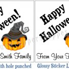 Personalized HALLOWEEN Classroom Favor Bag TAGS or STICKERS Labels Wedding