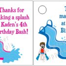 Personalized WATER SLIDE PARK Birthday Favor Bag TAGS Unique Party Supplies