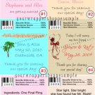 Personalized WEDDING Chap Stick Lip Balm Labels Party Supplies DESTINATION BEACH