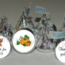 Personalized FALL AUTUMN WEDDING Kiss Labels Candy Wrappers Favors Supplies