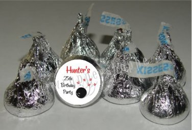 Personalized BOWLING Candy Kiss Labels Favors Birthday Party Supplies Stickers
