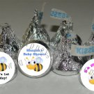 Personalized BUMBLE BEE BABY SHOWER BIRTHDAY Kiss Labels Candy Wrappers Favors