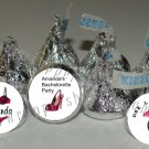 Personalized BACHELORETTE PARTY Kiss Labels Candy Wrappers Favors BRIDAL SHOWER