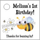 Personalized BUMBLE BEE Baby Shower 1st Birthday Favor Bag TAGS Party Supplies