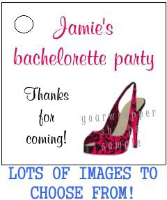 Personalized BACHELORETTE LINGERIE Gift TAGS or Stickers LABELS Party Supplies