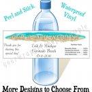 Personalized WEDDING BEACH WESTERN MONOGRAM Water Bottle Labels WATERPROOF