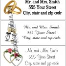 30 Personalized WEDDING Return Address Labels BEACH DESTINATION Party Supplies