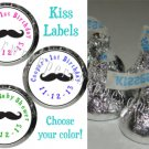 108 MUSTACHE MOUSTACHE Candy Wrappers Kiss Labels Birthday Party Favors Supplies