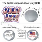 10 4TH OF JULY PATRIOTIC FLAG Party Favors Scratch Off Tickets Game Supplies