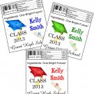 Personalized GRADUATION Chap Stick Lip Balm Labels Party Supplies CLASS of 2013