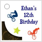 Personalized BMX BIKES Birthday Favor Bag TAGS Unique Party Supplies