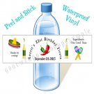 Personalized MEXICAN FIESTA Water Bottle Labels WATERPROOF 21st Birthday Favors