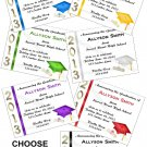 Personalized GRADUATION Announcements Invitations ALL SCHOOL COLORS