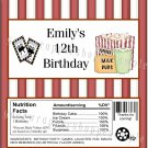 Personalized MOVIE NIGHT Birthday Party Large Candy Bar Wrappers Favors