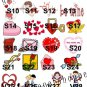VALENTINE'S DAY CLASSROOM Kiss Labels Candy Wrappers Party Supplies SCHOOL