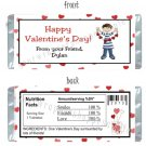 Personalized VALENTINE'S DAY CLASSROOM Party Large Candy Wrappers SCHOOL  Favors
