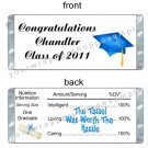 Personalized GRADUATION Party Large Candy Bar Wrappers Favors Supplies Cap Gown