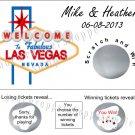 20 LAS VEGAS WEDDING Scratch off Tickets Game CASINO NIGHT Gambling