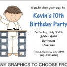 Personalized KARATE TAE KWON DO Birthday Party Invitations MARTIAL ARTS