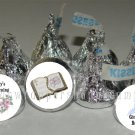 Personalized BAPTISM CHRISTENING Kiss Labels Wrappers Favors Party Supplies