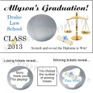 LAW SCHOOL GRADUATION Party Favors Scratch Off Tickets Game Supplies LAWYER