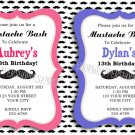 Personalized MUSTACHE Birthday Party Invitations BABY SHOWER SWEET 16 SIXTEEN