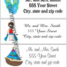 30 Personalized BEACH SUMMER Return Address Labels Baby Shower Birthday Supplies