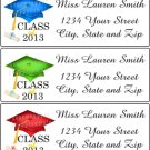 30 Personalized CLASS of 2013 GRADUATION CAP with TASSEL Return Address Labels