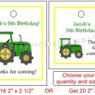 Personalized GREEN TRACTOR FARM Birthday Favor Bag TAGS Unique Party Supplies