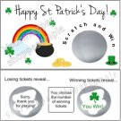 ST. PATRICK'S DAY Birthday Party Scratch Off Tickets Supplies POT OF GOLD GAME